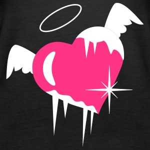Cold heart with a halo, wings and icicles Tops - Women's Premium Tank Top