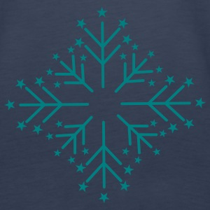Snowflake with Stars Tops - Women's Premium Tank Top