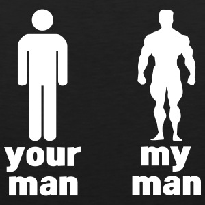 your man vs my man T-shirts - Débardeur Premium Homme