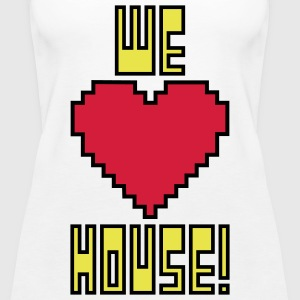 welovehousevector1 Tops - Women's Premium Tank Top