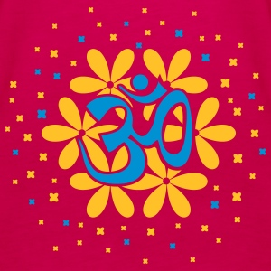 The Om flower bouquet Tops - Women's Premium Tank Top