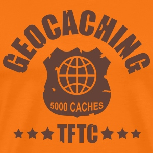 geocaching award 5000, 1 color - front - T-shirt Premium Homme