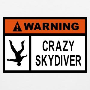 Warning Crazy Skydiver - Men's Premium Tank Top