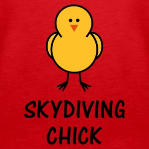 Skydiving Chick - Women's Premium Tank Top