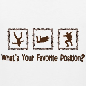 What's Your Favorite Position? Brown T-Shirts - Men's Premium Tank Top