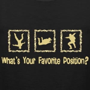 What's Your Favorite Position? Cream T-Shirts - Men's Premium Tank Top