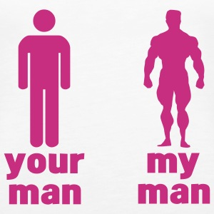your man vs my man (choose DIGITAL DIRECT) Tops - Vrouwen Premium tank top