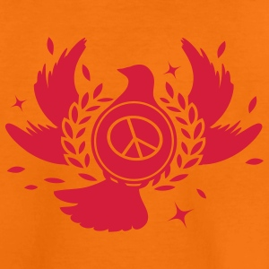 A peace dove with laurel wreath and peace sign  Kids' Shirts - Teenage Premium T-Shirt