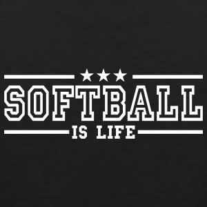 softball is life deluxe T-shirts - Mannen Premium tank top