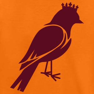 Bird silhouette with crown Kids' Shirts - Teenage Premium T-Shirt