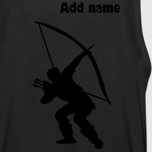 Archery longbow medieval design T-Shirts - Men's Premium Tank Top