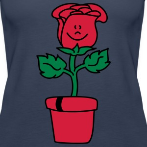 Small lovely Rose Tops - Women's Premium Tank Top