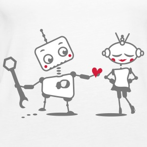 The robot gives away his heart Tops - Women's Premium Tank Top