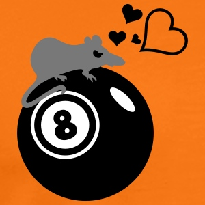 Pool-Billard-Ratte / rat loves eight ball (3c) T-Shirts - Men's Premium T-Shirt