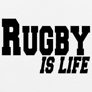 rugby is life T-Shirts - Men's Premium Tank Top