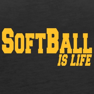 softball is life Tops - Vrouwen Premium tank top
