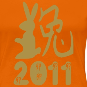 Kung Hei Fat Choi  2011 year of the Rabbit T-shirt - Women's Premium T-Shirt