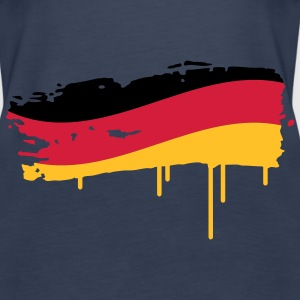 Germany flag painted with a brush stroke Tops - Women's Premium Tank Top