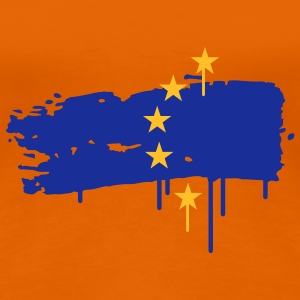European flag painted with a brush stroke T-Shirts - Women's Premium T-Shirt
