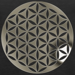 FLOWER OF LIFE 2 - silver punched | Tank Top - Frauen Premium Tank Top