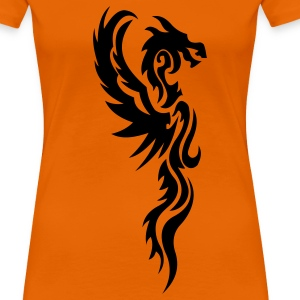 tribal dragon tattoo T-shirt - Maglietta Premium da donna