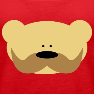 Teddy Bear Moustache Tops - Vrouwen Premium tank top