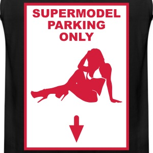 Supermodel parking only - Premium singlet for menn
