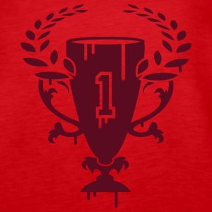 A Winner Cup with laurel wreath and Number 1 Tops - Women's Premium Tank Top