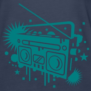 Radio cassette recorder graffiti Tops - Women's Premium Tank Top