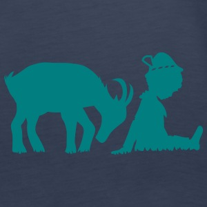 A goat and a little boy Tops - Women's Premium Tank Top