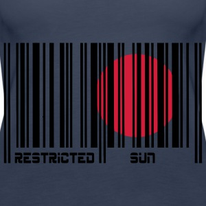 Restricted Sun, Dom Restricted, codice a barre. Top - Canotta premium da donna