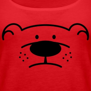 Bear Face Topy - Tank top damski Premium