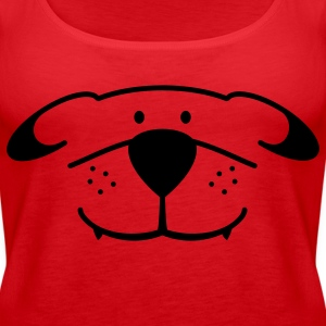 Dog Face Topy - Tank top damski Premium