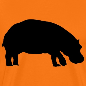 hippo animal T-shirts - T-shirt Premium Homme