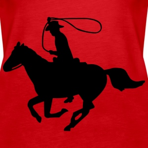 Cowboy on a Horse Tops - Women's Premium Tank Top