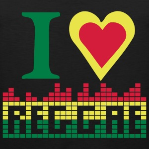 I LOVE REGGAE - Men's Premium Tank Top