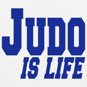 judo is life T-shirts - Mannen Premium tank top