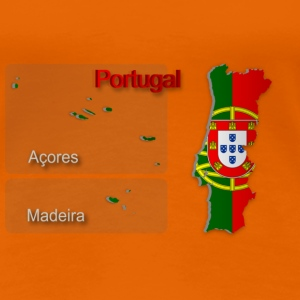 Map of Portugal 2.5 - Women's Premium T-Shirt