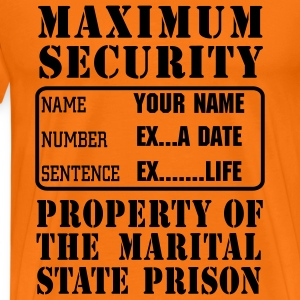Prisoner, Marriage State Prison, personalise for s - Men's Premium T-Shirt