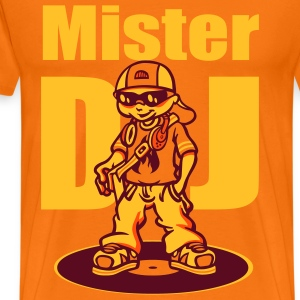 Mister DJ orange - T-shirt Premium Homme