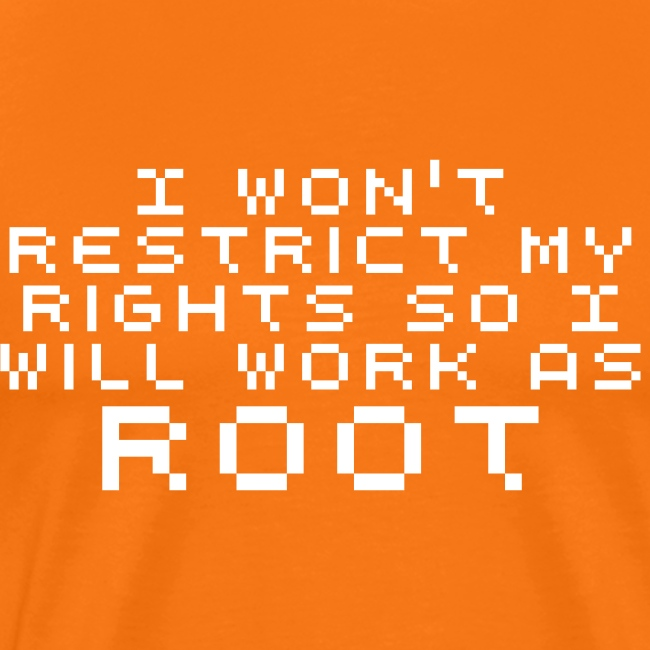 root for ever - all the time