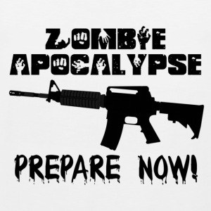 Zombie Apocalypse Prepare Now T-Shirts - Men's Premium Tank Top