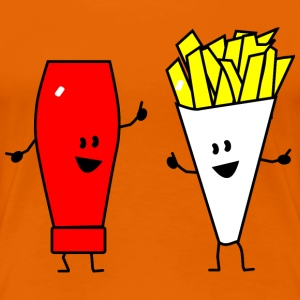 french fries ketchup T-Shirts - Women's Premium T-Shirt