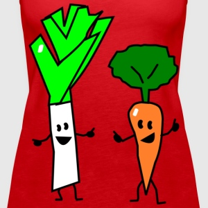 vegetable couple one Tops - Women's Premium Tank Top