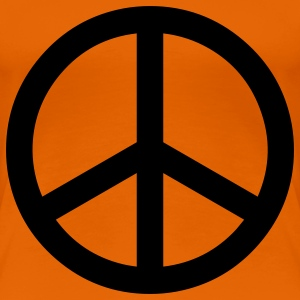 peace sign hippie T-shirt - Maglietta Premium da donna