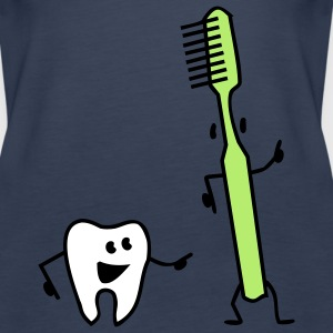 tooth and toothbrush Tops - Women's Premium Tank Top