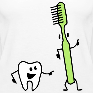 tooth and toothbrush Tops - Camiseta de tirantes premium mujer