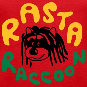 Rasta Raccoon Tops - Women's Premium Tank Top