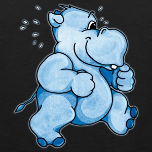 Running Hippo T-Shirts - Men's Premium Tank Top