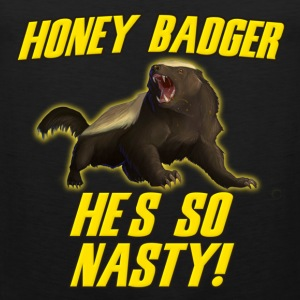 Honey Badger He's So Nasty T-Shirts - Men's Premium Tank Top